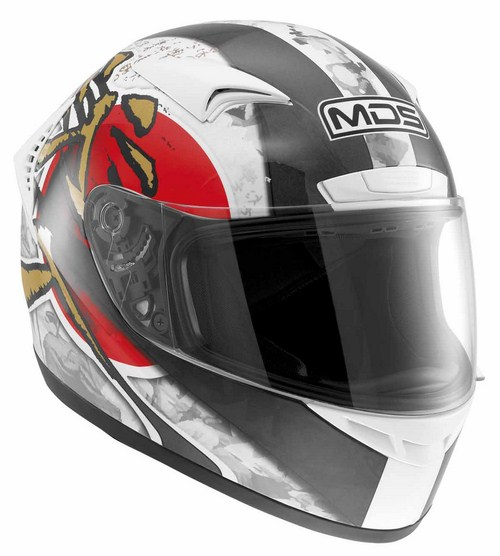 MDS by Agv M13 Multi Ronin full-face helmet white red