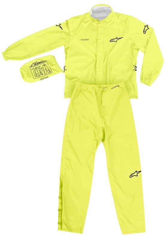 Alpinestars Quick Seal Out divisible rainsuit yellow fluo