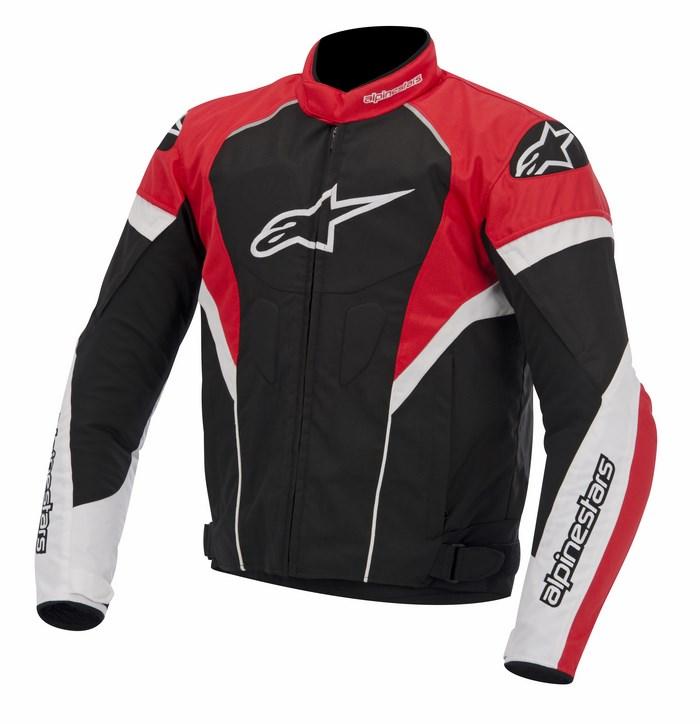 Giacca moto Alpinestars T-GP Plus R nero bianco rosso