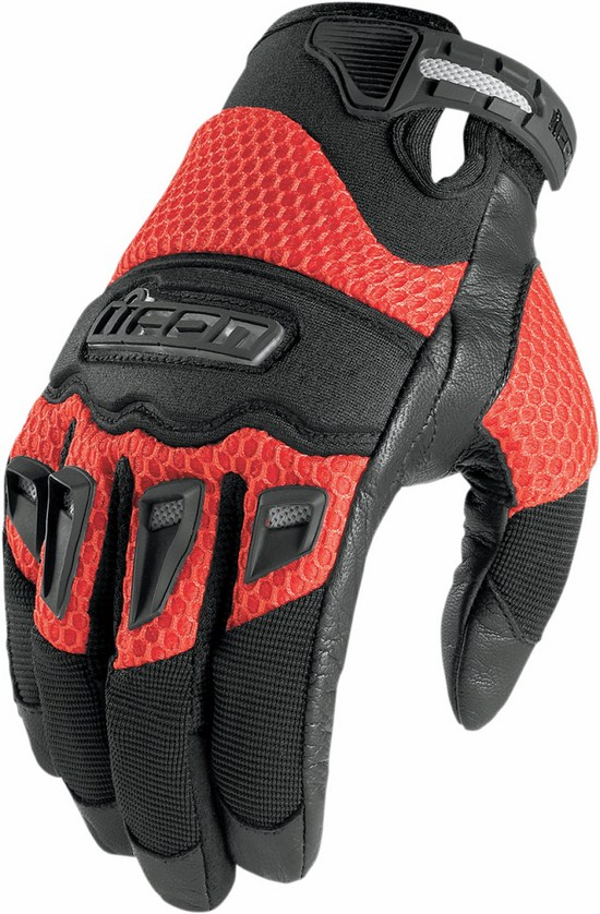 Summer Motorcycle Gloves Icon Twenty-Niner Red