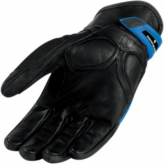 Summer Motorcycle Gloves Icon Blue Compound