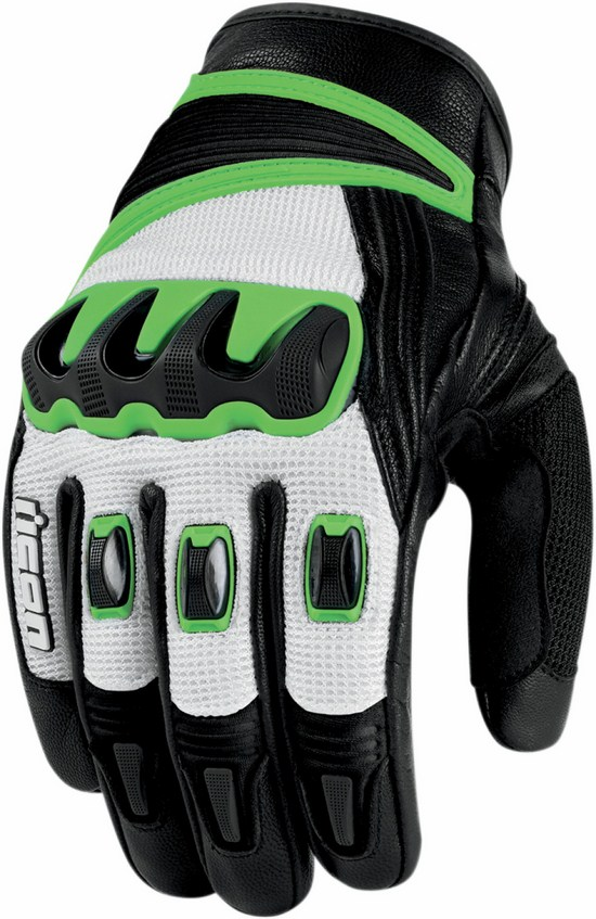 Guanti moto estivi Icon Compound Verde