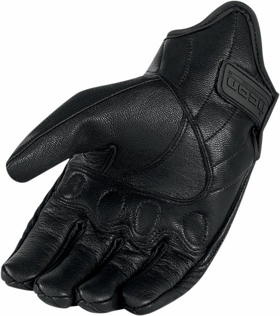 Icon Pursuit Leather Motorcycle Gloves Summer Touchscreen Black