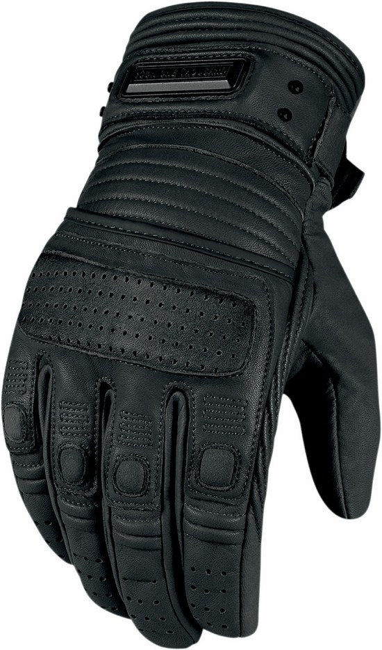 Leather motorcycle gloves summer 1000 Beltway Icon Black