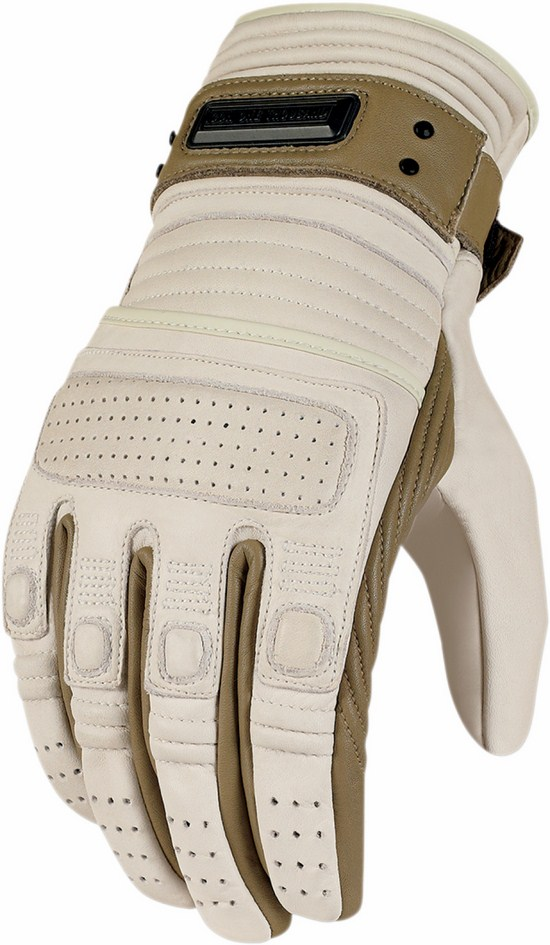 Icon leather motorcycle gloves summer 1000 Beltway Beige