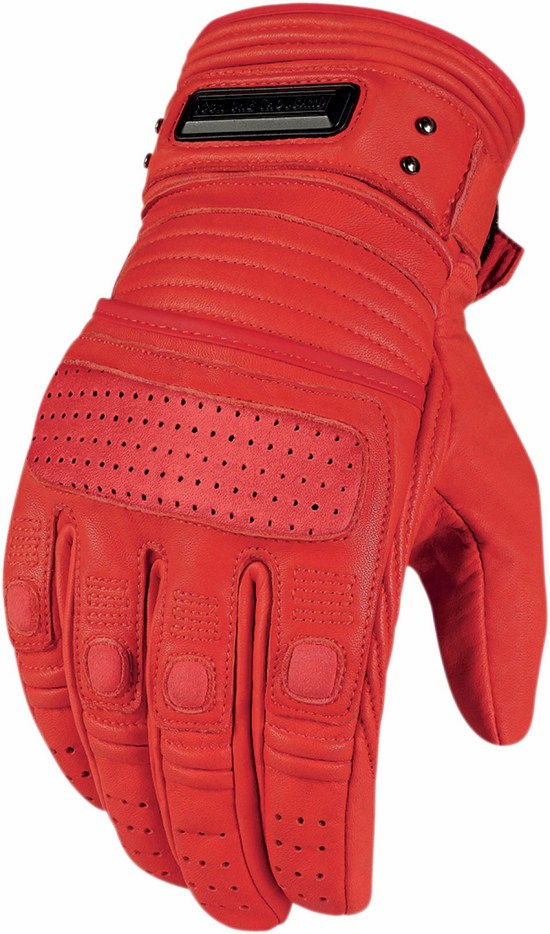 Icon leather motorcycle gloves summer 1000 Red Beltway
