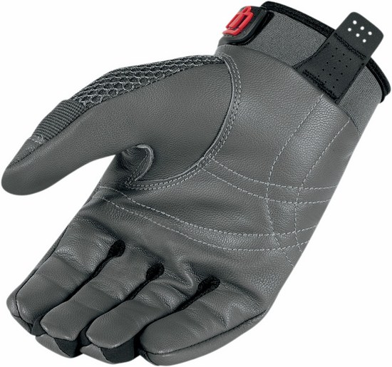Summer Motorcycle Gloves Icon Anthem Grey