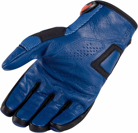 Summer Motorcycle Gloves Icon Overlord Resistance Blue