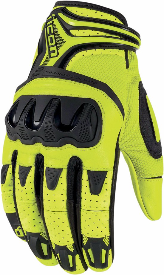 Summer Motorcycle Gloves Icon Overlord Resistance Fluorescent Ye