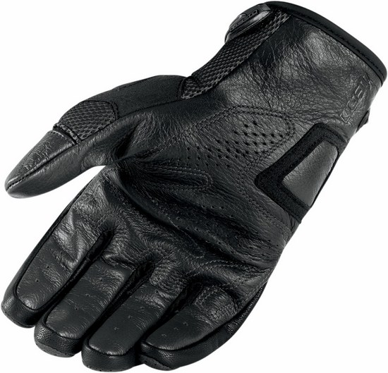 Summer Motorcycle Gloves Icon Black Sanctuary