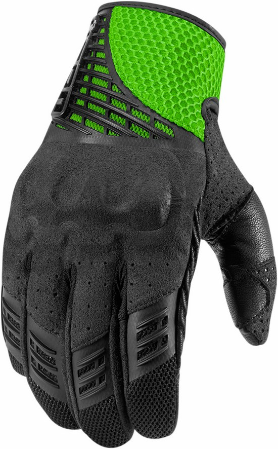 Summer Motorcycle Gloves Icon Green Sanctuary