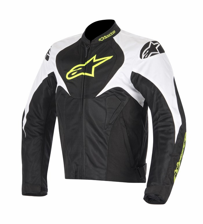 Alpinestars T-Jaws Air jacket black white yellow fluo
