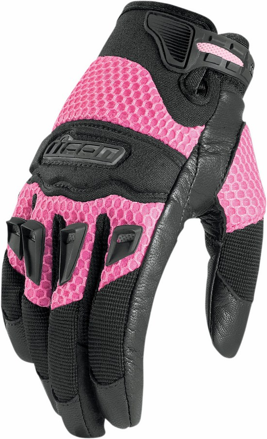 Icon Twenty-Niner leather Women gloves Black Pink