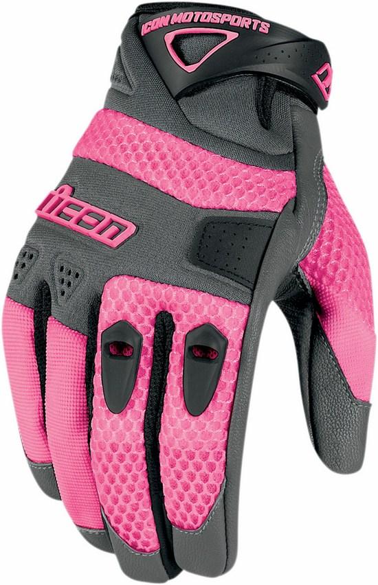 Icon Gloves Women Summer Anthem Grey Pink