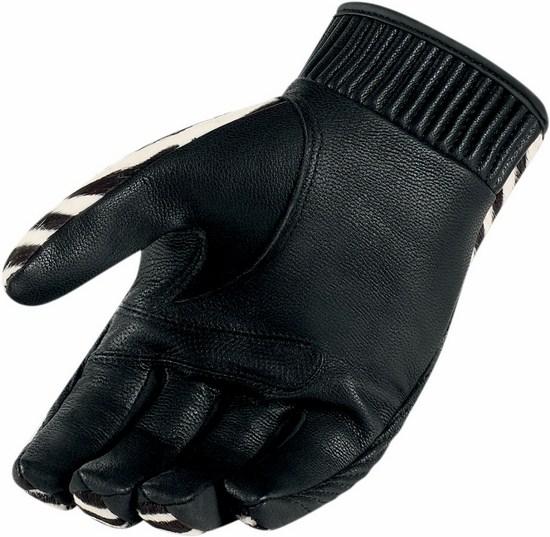 Gloves Icon Women Leather Short Zebra Catwalk 1000