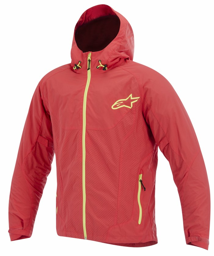 Alpinestars Tornado Air jacket Poppy Red Hi Viz Yellow