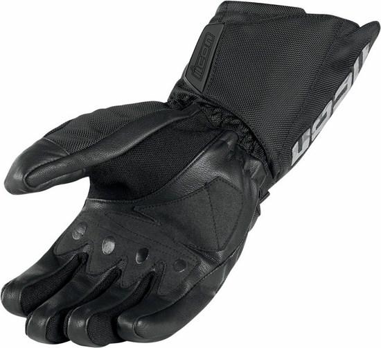 Icon Patrol Waterproof Motorcycle Gloves Black