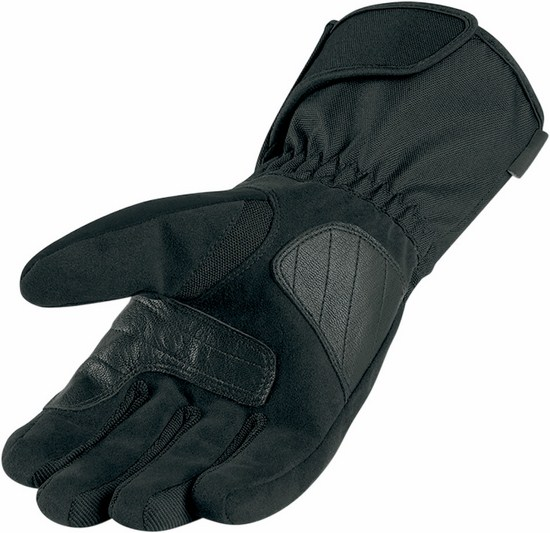 Icon PDX Waterproof Motorcycle Gloves Black