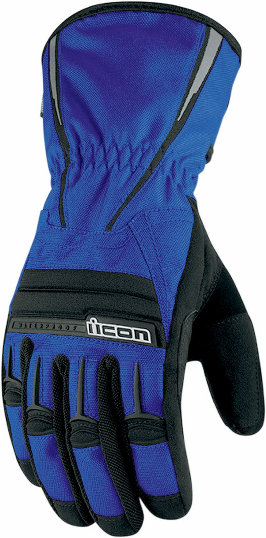 Icon PDX Waterproof Motorcycle Gloves Blue