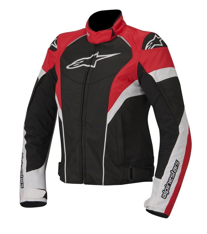 Giacca moto donna Alpinestars Stella T-GP Plus Nero Bianco Rosso