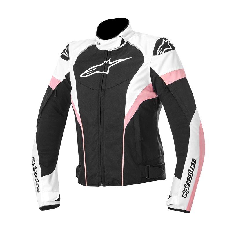 Giacca moto donna Alpinestars Stella T-GP Plus Nero Bianco Rosa