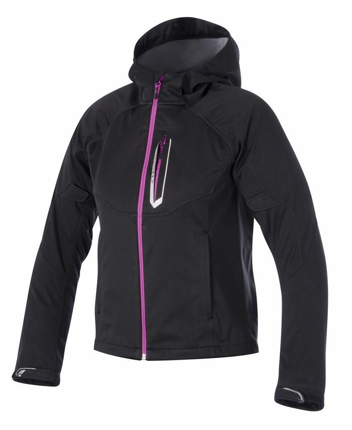 Giacca moto donna Alpinestars Stella Spark Soft Shell nero rosa