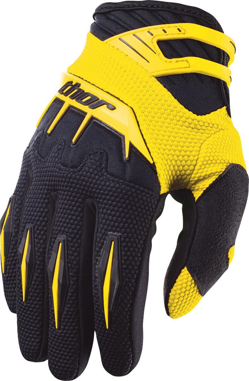 Thor Spectrum Gloves cross yellow