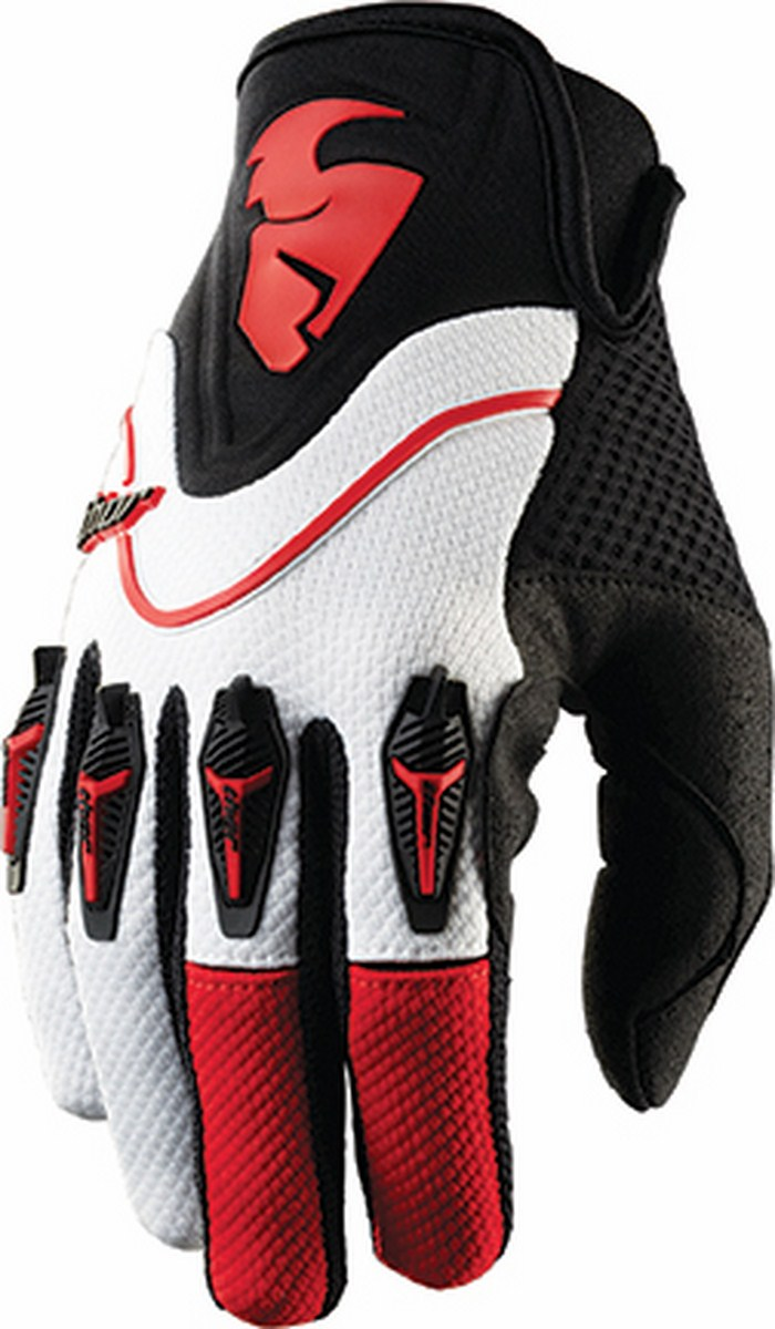 Thor Flow Gloves cross red