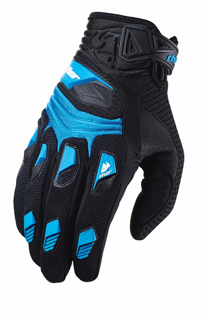 Thor Deflector Gloves cross blue