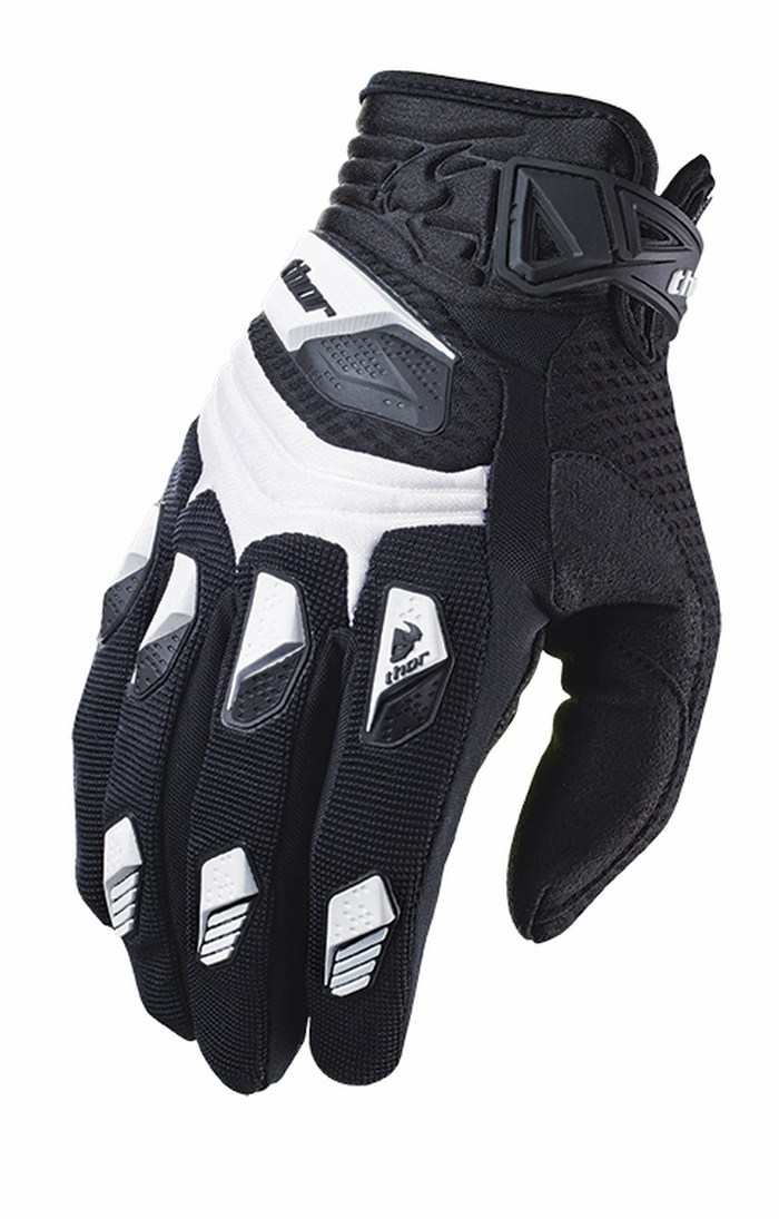 Thor Deflector Gloves cross white