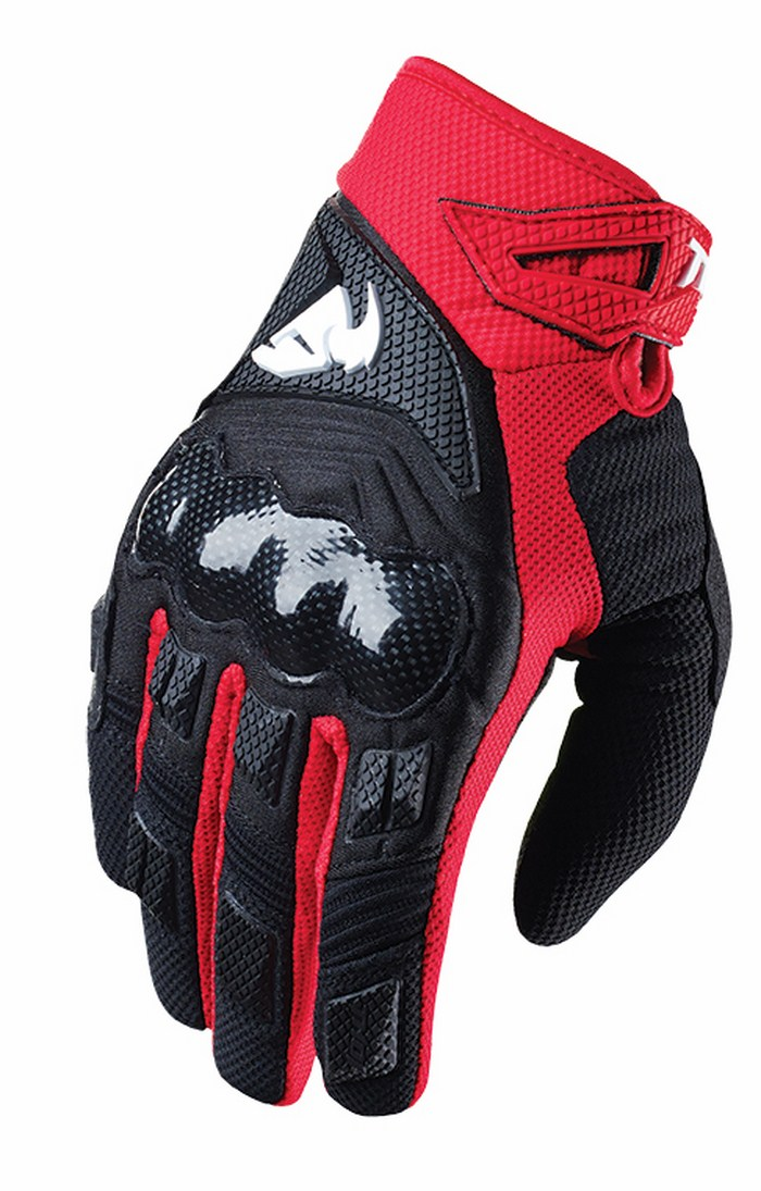 Thor Impact Gloves cross red black