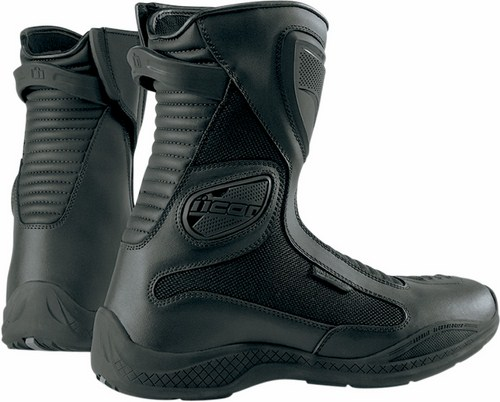 Icon Women Reign Waterproof Motorcycle Boots Black