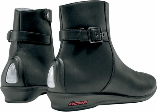 Motorcycle Boots Women Black Leather Sacred Icon
