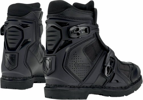 Icon Field Armor Motorcycle Boots Black 2