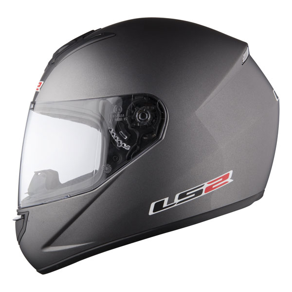 Full face helmet LS2 FF351 Single Mono Titanium matt