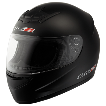 LS2 FF351 Single Mono full face helmet Matt Black