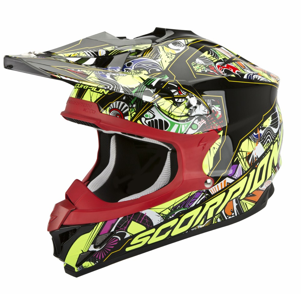 Scorpion VX 15 Evo Air Vector cross helmet black multicolor