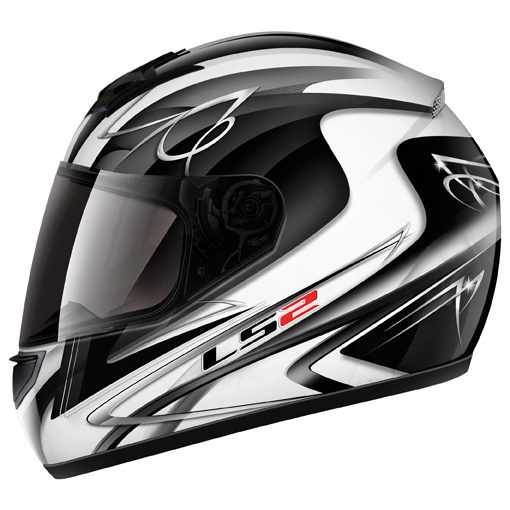 LS2 FF351 Diamond II full face helmet White-Black