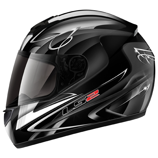 LS2 FF351 Diamond II full face helmet Black-White