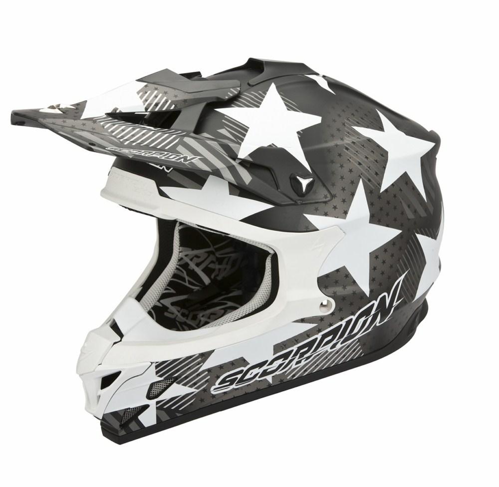 Scorpion VX 15 Evo Air Stadium cross helmet black white