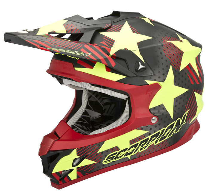 Casco cross Scorpion VX 15 EVO Air Stadium Matte Black Yellow