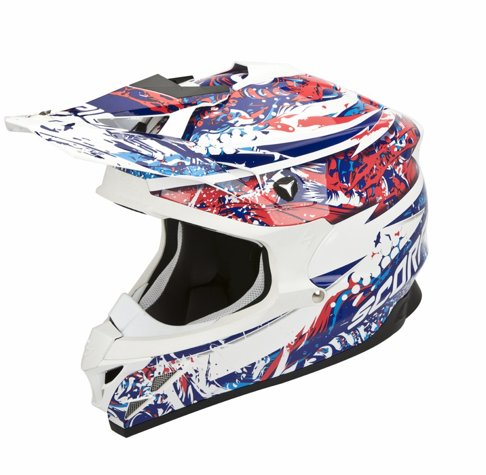Scorpion VX 15 Evo Air Horror cross helmet white red blue