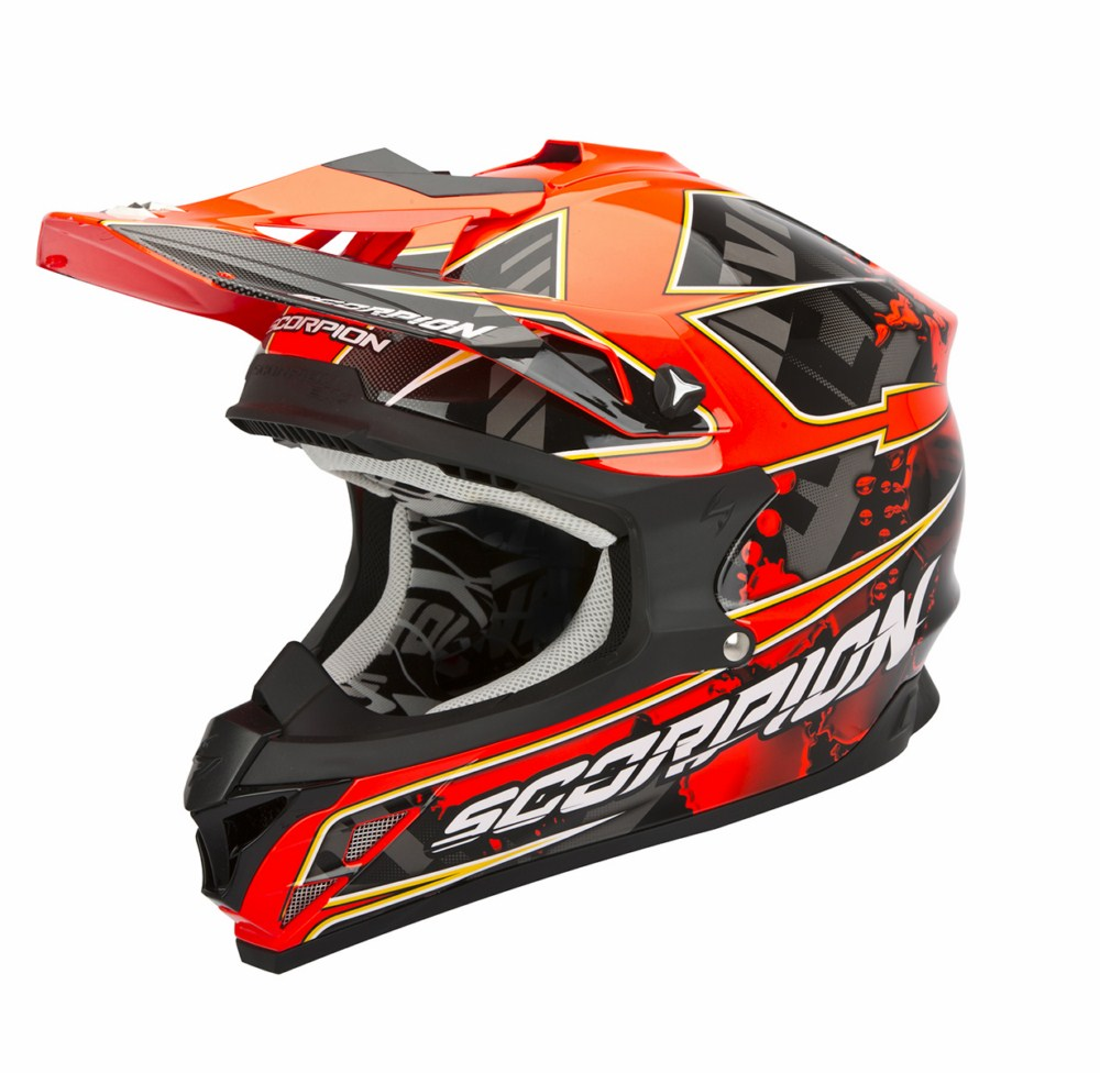Scorpion VX 15 Evo Air Magma cross helmet black red