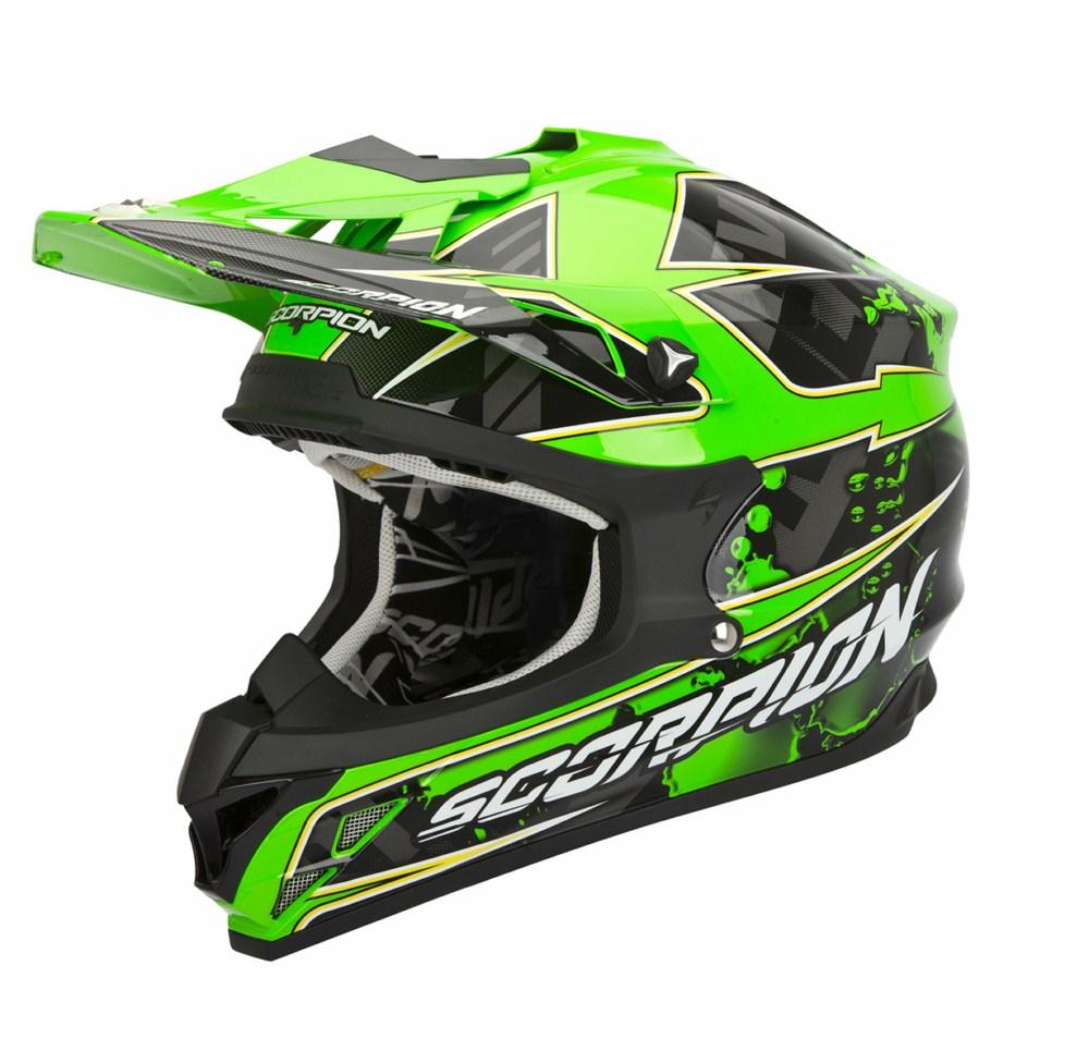 Scorpion VX 15 Evo Air Magma cross helmet black green