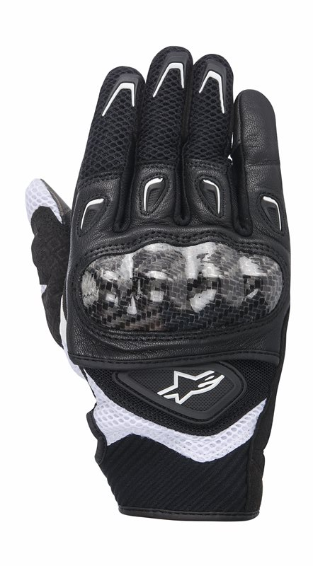 Alpinestars Stella SMX-2 Air Carbon woman gloves Black White