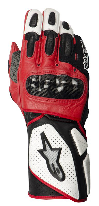 ALPINESTARS Stella SP-2 leather lady gloves white-black-red