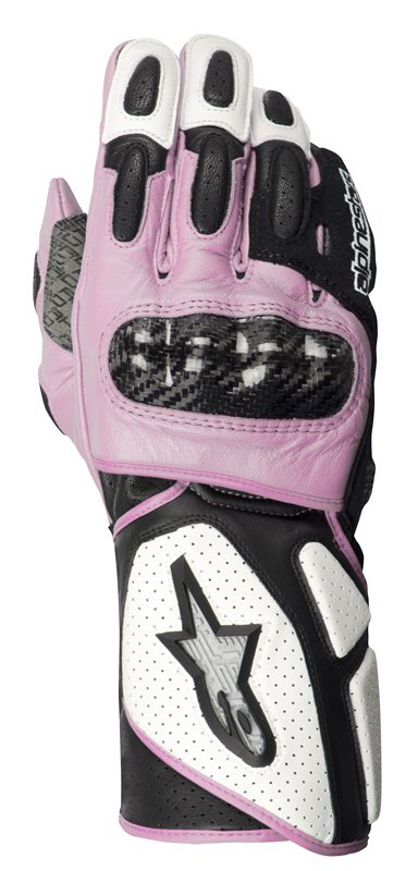 ALPINESTARS Stella SP-2 leather lady gloves white-black-pink