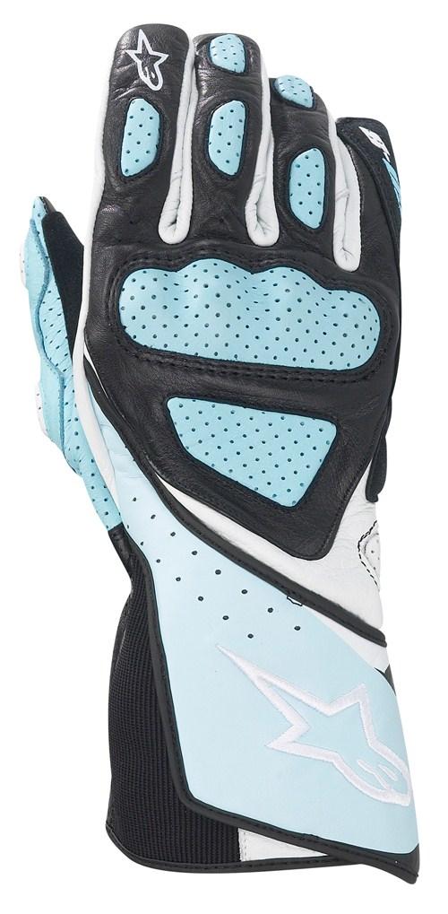 Alpinestars Stella SP-8 women leather gloves light blue
