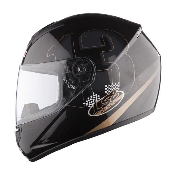 Full face helmet LS2 FF351 Black Poker