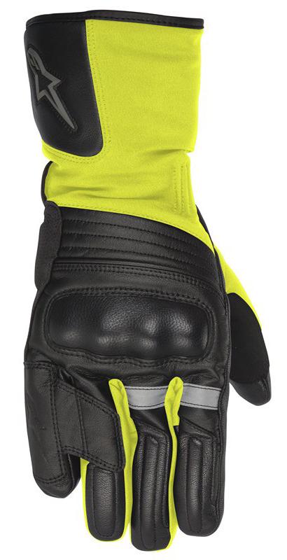Yukon Drystar Gloves Alpinestars Black Neon Yellow